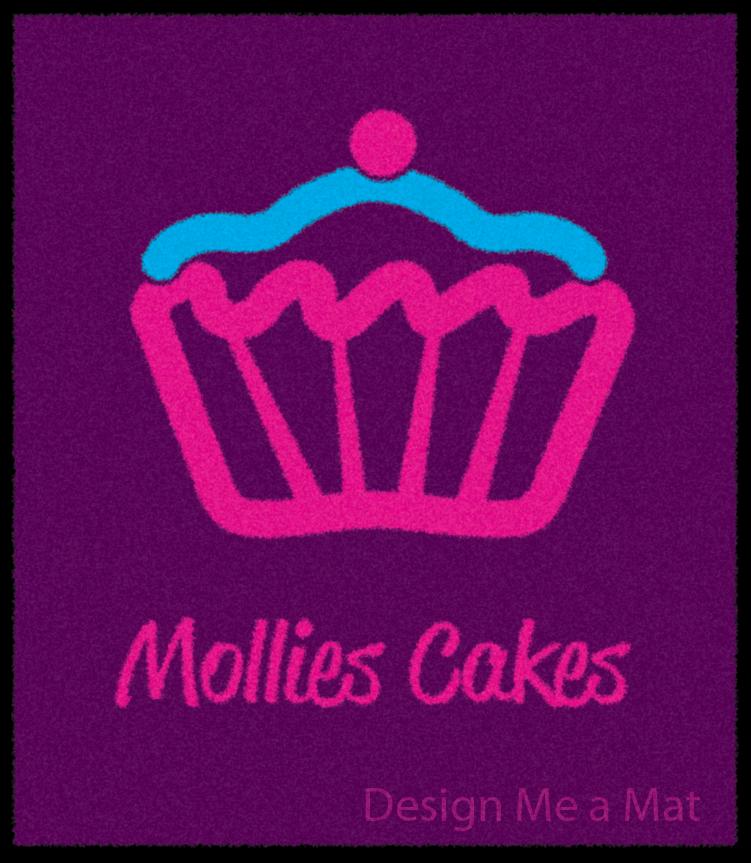 Mollies Cakes logo floor mat