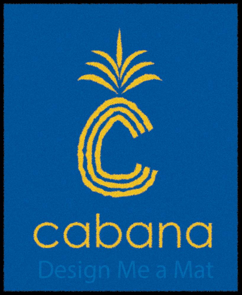 Bar Cabana floor logo mat