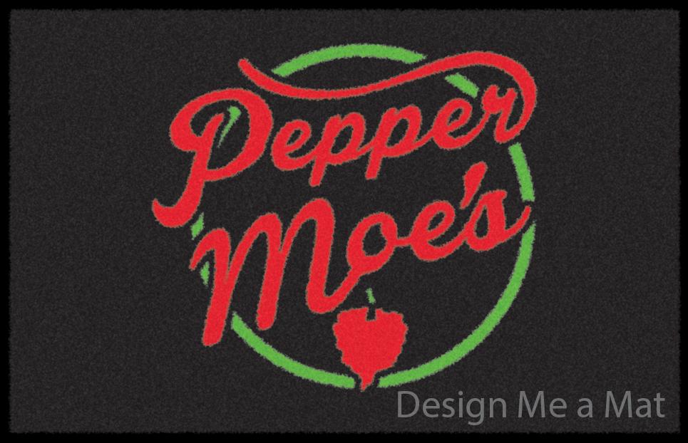 pepper-moes Mexican Restaurant Logo mat.