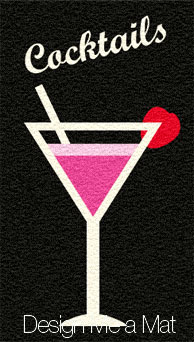 cocktail glass door mat