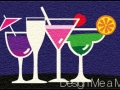 cocktail glasses door mat