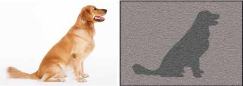 Dog design floor mat