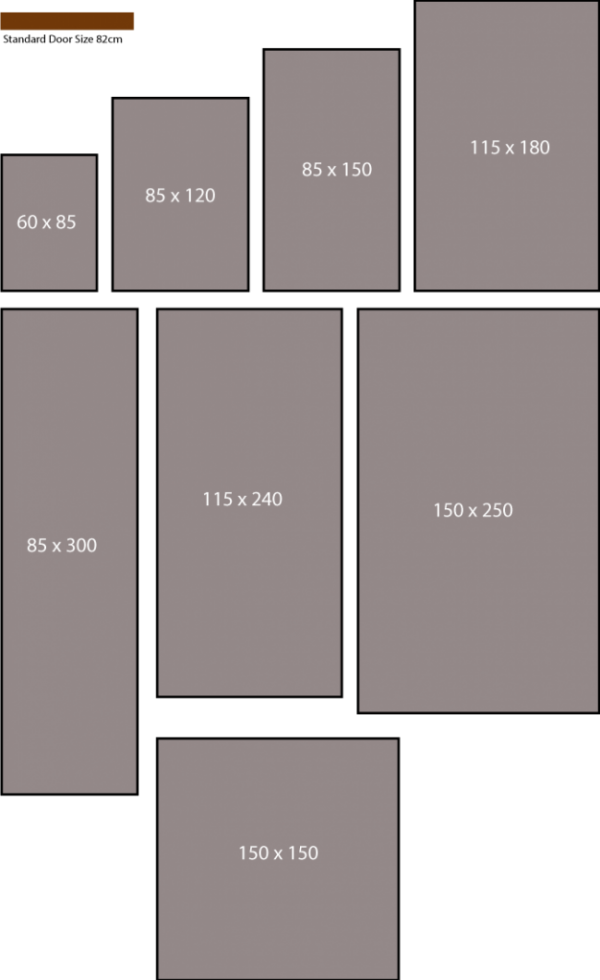 Logo mat sizes