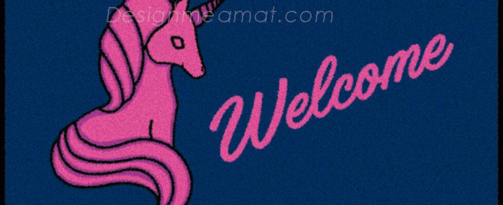unicorn door mat